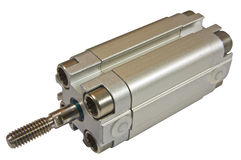 Pneumatic cylinder small Royalty Free Stock Image