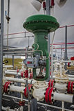 Pneumatic flow Control Valve for Refinery or Chemical Plant Royalty Free Stock Image