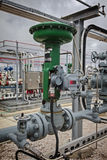 Pneumatic flow Control Valve for Refinery or Chemical Plant royalty free stock photography