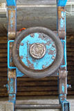 Pneumatic garage jack Stock Photo