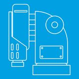 Pneumatic hammer machine icon, outline style Royalty Free Stock Photos