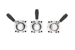 Pneumatic hand valve Stock Photography