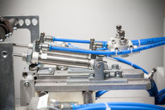 Pneumatic machine detail. Close up Stock Images