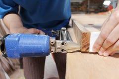Pneumatic nail gun Stock Photography