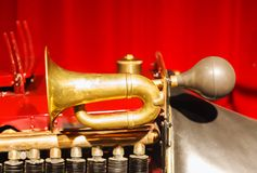 Pneumatic old car horn Royalty Free Stock Photography