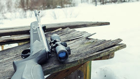 Pneumatic rifle with an optical sigh. T, for sport hunting Stock Images
