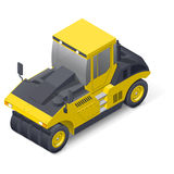 Pneumatic road compactor icon Royalty Free Stock Photo