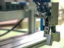 Pneumatic robot input. stock image