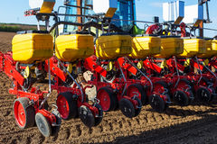 Pneumatic seed drill Stock Image