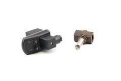 Pneumatic timer valve Stock Photo