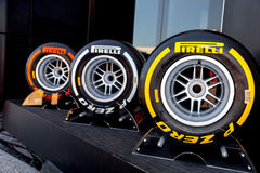 Pneumatic tires Pirelli Stock Photo