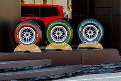 Pneumatic tires Pirelli Royalty Free Stock Photos