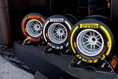 Pneumatic tires Pirelli Stock Photos