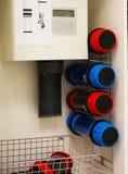 Pneumatic tube system Stock Image