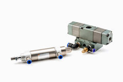 Pneumatic valves Stock Photography