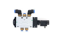 Pneumatic valves royalty free stock image