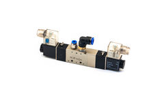 Pneumatic valves. With white background royalty free stock image
