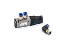 Pneumatic valves Stock Photo