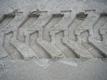 Pneumatico dell'impronta Fotografia Stock