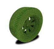 Pneumatico ecologico verde dell'automobile Fotografia Stock Libera da Diritti
