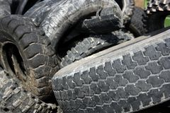 Pneumatics tyres recycle ecology industry Stock Photos
