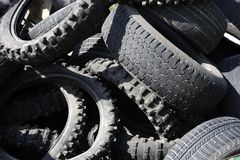 Pneumatics tyres recycle ecology industry stock images
