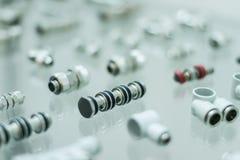Pneumatische Adapter Stockfotos