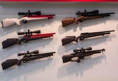 Pneumatische Gewehre Psp auf dem Stent Stockfotografie