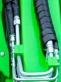 Pneumatische, hydraulische die machines van staalclose-up worden gemaakt royalty-vrije stock fotografie