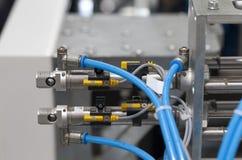 Pneumatische Komponenten Lizenzfreies Stockbild