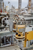 Pneumatisk fjärilsventil för raffinaderi eller kemisk växt Royaltyfria Bilder