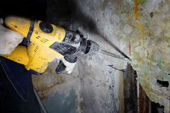 pneumatisk hammare royaltyfria foton