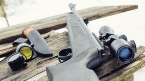 Pneumatiskt gevär med en optisk sikt royaltyfri bild