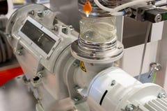 Pneumatyczny żywieniowy system dla polypropylene wyrek dla extruder maszyn obraz stock