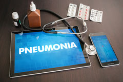 Pneumonia (infectious disease) diagnosis medical concept on  Royalty Free Stock Photography