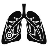 Pneumonia lungs icon, simple style. Pneumonia lungs icon. Simple illustration of pneumonia lungs vector icon for web design isolated on white background royalty free illustration
