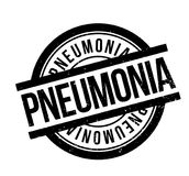 Pneumonia rubber stamp Royalty Free Stock Photos