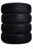 4 pneus automatiques étroits Photo stock
