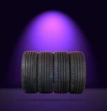 4 pneus d'été Photo libre de droits