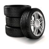 pneus 3d Imagens de Stock