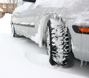 Pneus de l'hiver Photos libres de droits