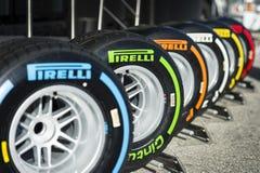 Pneus de Pirelli Photos libres de droits