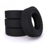 pneus de voiture sur un fond blanc Image stock