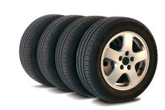 4 pneus do verão Fotografia de Stock Royalty Free