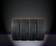 4 pneus do verão Fotos de Stock Royalty Free