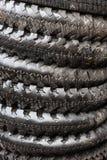 Pneus humides de motocyclette Photo libre de droits