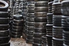 Pneus humides de voiture Image stock