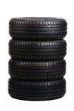 Pneus pretos do verão isolados no branco Imagem de Stock Royalty Free