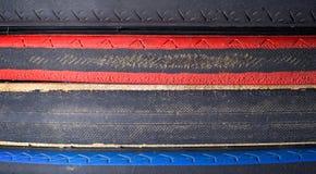 Pneus utilisés de bicyclette Photo stock
