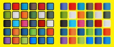 PNF Art Colours dos elementos sociais dos ícones dos meios ilustração royalty free